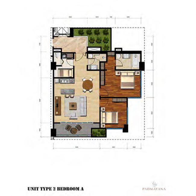 The Padmayana Denah Tipe 2 Bedroom