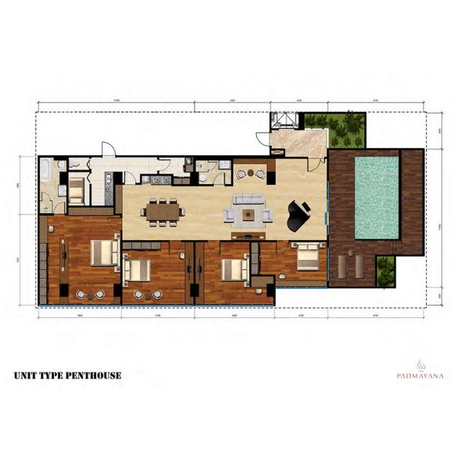 The Padmayana Denah Tipe Penthouse